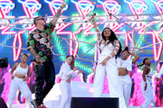 J Balvin (L) and Cardi B perform onstage during the 2018 Coachella Valley Music And Arts Festival at the Empire Polo Field on April 22, 2018 in Indio, California.