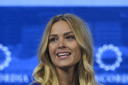 CoFounder of All Hands and Hearts-Smart Response Petra Nemcova speaks onstage during the 2018 Concordia Annual Summit - Day 2 at Grand Hyatt New York on September 25, 2018 in New York City.