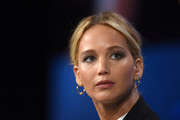 Actor and Board Member of RepresentUs Jennifer Lawrence speaks onstage during the 2018 Concordia Annual Summit - Day 2 at Grand Hyatt New York on September 25, 2018 in New York City.