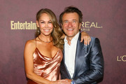 Kym Johnson (L) and Robert Herjevec arrive to the 2018 Entertainment Weekly Pre-Emmy Party at Sunset Tower Hotel on September 15, 2018 in West Hollywood, California.