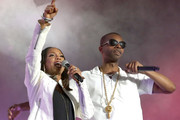 MC Lyte and Agil Davidson of Wreckx-n-Effect perform onstage during the 2018 Essence Festival presented by Coca-Cola - Day 3 at Louisiana Superdome on July 7, 2018 in New Orleans, Louisiana.