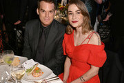 Actor Michael C. Hall (L) and critic Morgan Macgregor attend the 2018 Farm Sanctuary on the Hudson gala at Pier 60 on October 4, 2018 in New York City.