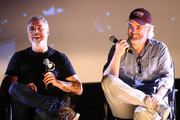 Titus Welliver and Henrik Bastin speak onstage at the 2018 Film In California Conference at Los Angeles Center Studios on May 5, 2018 in Los Angeles, California.