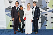 (L-R) Actors Mark-Paul Gosselaar, Saniyya Sidney, Brianne Howey, and Vincent Piazza attend the 2018 Fox Network Upfront at Wollman Rink, Central Park on May 14, 2018 in New York City.