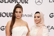Ashley Graham and Noor Tagouri pose backstage at the 2018 Glamour Women Of The Year Awards: Women Rise on November 12, 2018 in New York City.
