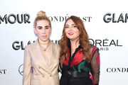 Zosia Mamet (L) and Glamour Editor-in-Chief Samantha Barry attend the 2018 Glamour Women Of The Year Awards: Women Rise on November 12, 2018 in New York City.