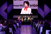 (L-R) Ashley Graham, Indya Moore, Nico Tortorella, Alia Shawkat and Phoebe Robinson speak onstage during panel at 2018 Glamour Women Of The Year Summit:  Women Rise at Spring Studios on November 11, 2018 in New York City.