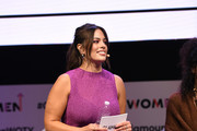 """Ashley Graham moderates """"The Benefits of Being an Outlier"""" panel discussion at 2018 Glamour Women Of The Year Summit:  Women Rise at Spring Studios on November 11, 2018 in New York City."""
