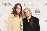 Rachele Regini (L) and Maria Grazia Chiuri attend the 2018 Guggenheim International Gala Pre-Party made possible by Dior at Solomon R. Guggenheim Museum on November 14, 2018 in New York City.