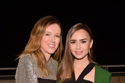 Designer of the Year Clare Waight Keller (L) and Lily Collins attend the 2018 InStyle Awards at The Getty Center on October 22, 2018 in Los Angeles, California.