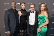 (L-R) Producer Lee Daniels, Louise Kugelberg, Julian Schnabel, and musician Andra Day attend 2018 LACMA Art + Film Gala honoring Catherine Opie and Guillermo del Toro presented by Gucci at LACMA on November 3, 2018 in Los Angeles, California.