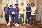 Nick Kyrgios, Serena Williams, Venus Williams, Alexander Zverev, Rafael Nadal and Mischa Zverev attend 2018 Lotte New York Palace Invitational on August 23, 2018 in New York City.