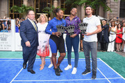 David Shenman, Becky Hubbard, Serena Williams, Venus Williams and Mischa Zverev attend 2018 Lotte New York Palace Invitational on August 23, 2018 in New York City.