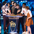 Finn Wolfhard Jeremy Ray Taylor Photos - (L-R) Actors Finn Wolfhard, Jack Dylan Grazer, Wyatt Oleff, Jaeden Lieberher, Jeremy Ray Taylor, Chosen Jacobs, and Sophia Lillis accept the Best On-Screen Team award for 'It' onstage during the 2018 MTV Movie And TV Awards at Barker Hangar on June 16, 2018 in Santa Monica, California. - 2018 MTV Movie And TV Awards - Show
