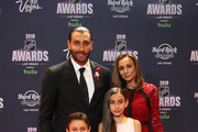 Roberto Luongo of the Florida Panthers and guests arrive to the 2018 NHL Awards presented by Hulu at the Hard Rock Hotel & Casino on June 20, 2018 in Las Vegas, Nevada.