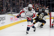 Devante Smith-Pelly #25 of the Washington Capitals skates against the Vegas Golden Knights during the second period in Game Five of the 2018 NHL Stanley Cup Final at T-Mobile Arena on June 7, 2018 in Las Vegas, Nevada. The Capitals defeated the Golden Knights 4-3.