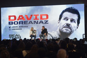Actor David Boreanaz speaks onstage during A Conversation with David Boreanaz panel during New York Comic Con 2018 at Javits Center on October 4, 2018 in New York City.