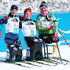 Oksana Masters Photos - From left, silver medalist Oksana Masters of the United States, gold medalist Kendall Gretsch of the United States, and bronze medalist Lidziya Hrafeyeva of Belarus after the Women's seated 6k at Alpensia Biathlon Centre on Day 1 of the PyeongChang 2018 Paralympic Games on March 10, 2018 in Pyeongchang-gun, South Korea. - 2018 Paralympic Winter Games - Day 1