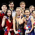 Evan Bates Madison Hubbell Photos - Maia Shibutani and Alex Shibutani, Madison Hubbell and Zachary Donohue, Madison Chock and Evan Bates, Kaitlin Hawayek and Jean-Luc Baker pose for photographers after the medal ceremony for the Championship Dance during the 2018 Prudential U.S. Figure Skating Championships at the SAP Center on January 7, 2018 in San Jose, California. - 2018 Prudential U.S. Figure Skating Championships - Day 5