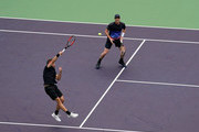 Jamie Murray of Great Britain and Bruno Soares of Brazil celebrate after defeating Lukasz Kubot of Poland and Marcelo Melo of Brazil during the final of MenÕs Double match between Jamie Murray of Great Britain and Bruno Soares of Brazil and Lukasz Kubot of Poland and Marcelo Melo of Brazil in 2018 Rolex Shanghai Masters at Qi Zhong Tennis Centre on October 14, 2018 in Shanghai, China.