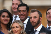 Dustin Johnson of the United States and his partner Paulina Gretzky poses before the Ryder Cup Gala dinner at the Palace of Versailles ahead of the 2018 Ryder Cup on September 26, 2018 in Versailles, France.