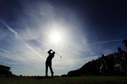 Rickie Fowler of the United States on the 13th during the morning fourball matches of the 2018 Ryder Cup at Le Golf National on September 29, 2018 in Paris, France.
