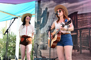 (L-R) Nikki Lane performs onstage with Ruby Boots during 2018 Stagecoach California's Country Music Festival at the Empire Polo Field on April 28, 2018 in Indio, California.