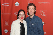 Actress Zoe Lister-Jones and filmmaker Daryl Wein attend An Artist at the Table Cocktail Reception and Dinner during the 2018 Sundance Film Festival at DeJoria Center on January 18, 2018 in Park City, Utah.