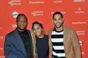 """(L-R) Screenwriter Qasim Basir, actors Meagan Good and Dijon Talton attend the """"A Boy, A Girl, A Dream"""" Premiere during the 2018 Sundance Film Festival at Park City Library on January 22, 2018 in Park City, Utah."""