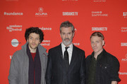 """Colin Morgan, Rupert Everett, and Edwin Thomas attend """"The Happy Prince"""" Premiere during Sundance Film Festival at Eccles Center Theatre on January 21, 2018 in Park City, Utah."""