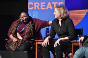(L-R) Actress Octavia Spencer (L) and CEO of shift7 Megan Smith speak onstage at the Power Of Story Panel: Culture Shift during the 2018 Sundance Film Festival at Egyptian Theatre on January 19, 2018 in Park City, Utah.