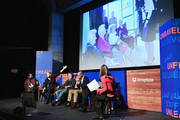 (L-R) Octavia Spencer, Megan Smith, Christine Vachon, Patrick Gaspard and Sarah Ellison speak onstage at the Power Of Story Panel: Culture Shift during the 2018 Sundance Film Festival at Egyptian Theatre on January 19, 2018 in Park City, Utah.