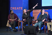 (L-R) Actress Octavia Spencer (L), CEO of shift7 Megan Smith and producer Christine Vachon speak onstage at the Power Of Story Panel: Culture Shift during the 2018 Sundance Film Festival at Egyptian Theatre on January 19, 2018 in Park City, Utah.