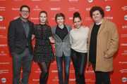 "Actors Rich Sommer, Tiera Skovbye, Graham Verchere, Susie Castillo, and Caleb Emery attend the ""Summer Of '84"" Premiere during the 2018 Sundance Film Festival at Park City Library on January 22, 2018 in Park City, Utah."