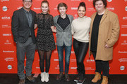"""Actors Rich Sommer, Tiera Skovbye, Graham Verchere, Susie Castillo, and Caleb Emery attend the """"Summer Of '84"""" Premiere during the 2018 Sundance Film Festival at Park City Library on January 22, 2018 in Park City, Utah."""