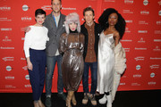 "Actors Tracy Hazas, Nico Evers-Swindell and Vivian Bang and director Daryl Wein and actor Nana Ghana attend the ""White Rabbit"" and ""Lazercism"" Premieres during the 2018 Sundance Film Festival at Park Avenue Theater on January 19, 2018 in Park City, Utah."