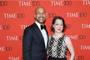 Keegan-Michael Key and Elisa Pugliese attend the 2018 Time 100 Gala at Jazz at Lincoln Center on April 24, 2018 in New York City.