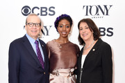 Barry Grove, Condola Rashad, and Lynne Meadow attend the 2018 Tony Awards Meet The Nominees Press Junket on May 2, 2018 in New York City.