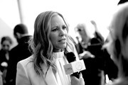 "This image has been converted to black and white. A color version is not available.) Maria Bello attends the ""Giant Little Ones"" premiere during 2018 Toronto International Film Festival at The Elgin on September 9, 2018 in Toronto, Canada."