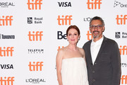 """Julianne Moore (L) and John Turturro attend the """"Gloria Bell"""" premiere during 2018 Toronto International Film Festival at Princess of Wales Theatre on September 7, 2018 in Toronto, Canada."""