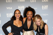 """(L-R) Jasmine Cephas Jones, Chanté Adams, and Cara Buono attend the """"Monsters And Men"""" premiere during 2018 Toronto International Film Festival at TIFF Bell Lightbox on September 6, 2018 in Toronto, Canada."""