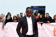 """Michael Kenneth Williams attends the """"The Public"""" premiere during 2018 Toronto International Film Festival at Roy Thomson Hall on September 9, 2018 in Toronto, Canada."""