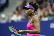 Venus Williams of the United States looks on during her women's singles third round match against Serena Williams of the United States on Day Five of the 2018 US Open at the USTA Billie Jean King National Tennis Center on August 31, 2018 in the Flushing neighborhood of the Queens borough of New York City.