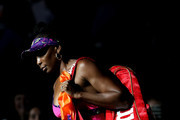 Venus Williams of the United States walks out on court prior to her women's singles third round match against Serena Williams of the United States on Day Five of the 2018 US Open at the USTA Billie Jean King National Tennis Center on August 31, 2018 in the Flushing neighborhood of the Queens borough of New York City.