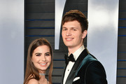 Violetta Komyshan (L) and Ansel Elgort attend the 2018 Vanity Fair Oscar Party hosted by Radhika Jones at Wallis Annenberg Center for the Performing Arts on March 4, 2018 in Beverly Hills, California.