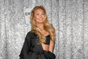Romee Strijd poses backstage during the 2018 Victoria's Secret Fashion Show at Pier 94 on November 8, 2018 in New York City.