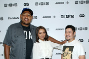 (L-R) Actors Omar Benson Miller, Kat Graham, and Eric Bauza of 'Teenage Mutant Ninja Turtles' attend the 2018 WIRED Cafe at Comic Con presented by AT&T Audience Network at Omni Hotel on July 20, 2018 in San Diego, California.