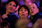 Davina McCall watches the 2018 William Hill PDC World Darts Championships on Day Thirteen at Alexandra Palace on December 29, 2017 in London, England.