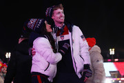 Madison Chock and Evan Bates walk with Team USA in the Parade of Athletes during the Closing Ceremony of the PyeongChang 2018 Winter Olympic Games at PyeongChang Olympic Stadium on February 25, 2018 in Pyeongchang-gun, South Korea.