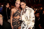 Halsey (L) and Kehlani attend the 2018 iHeartRadio Music Awards which broadcasted live on TBS, TNT, and truTV at The Forum on March 11, 2018 in Inglewood, California.